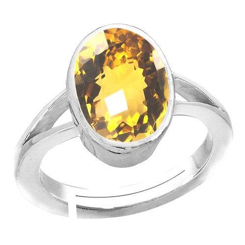 Sagittarius Yellow Topaz Stone Ring
