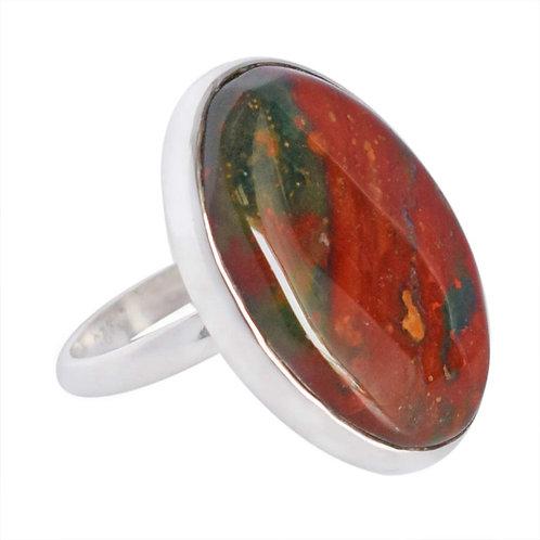 Aries Blood Stone Ring