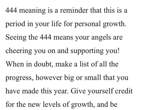 444: You Are Positively Progressing