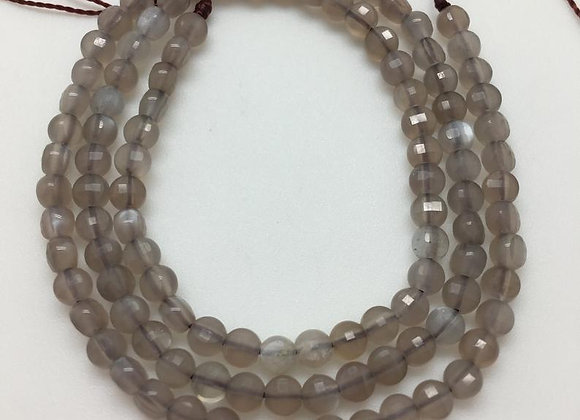 Pierre de lune palet 4x2.5mm facette - 95 perles par fil