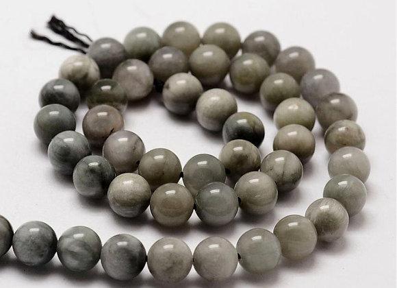 Oeil De Faucon 8mm Naturel - 47 perles par fil