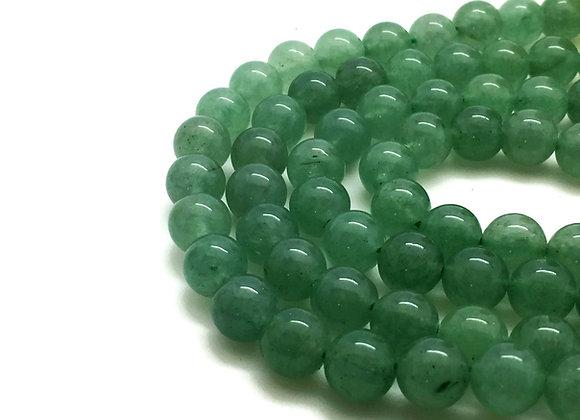 Aventurine Verte Naturelle 6mm - 61 perles par fil
