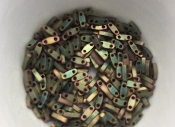 5g Miyuki Quarter Tila - Matted Metallic Khaki Iris - QTL2035