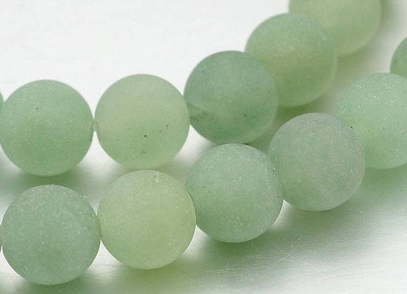 Aventurine Verte Givrée Naturelle 4mm - 89 perles par fil