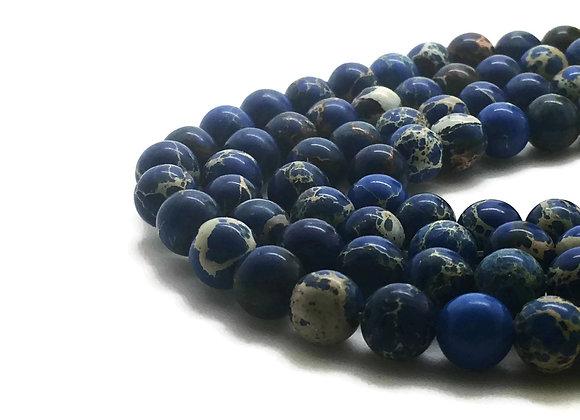 Régalite Bleu Foncé 8mm - 47 perles par fil