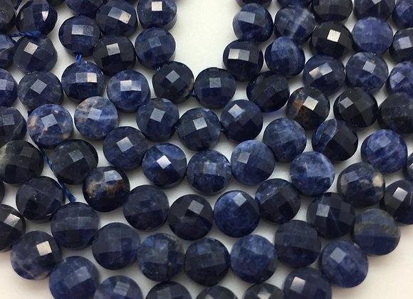 Sodalite palet 6x3.5mm facette - 60 perles par fil