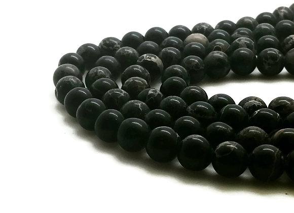 Régalite Noire 6mm - 61 perles par fil