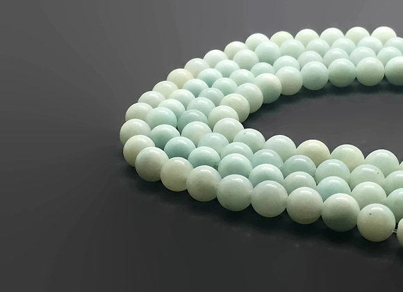 Amazonite Bleu Vert Naturelle 4mm - 89 perles par fil