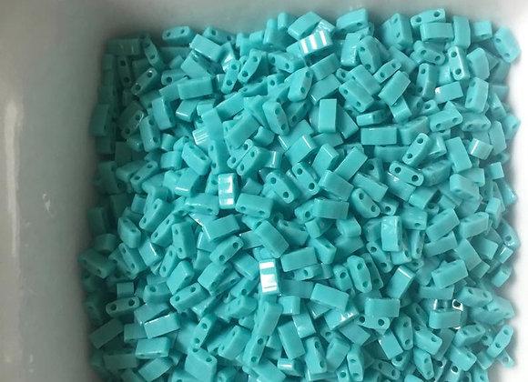 5g Miyuki Half Tila - Opaque Turquoise Green - 5x2.3x1.9mm - HTL0412