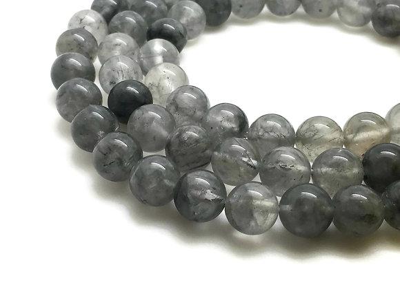 Quartz Nuage 10mm Naturel - 37 perles par fil