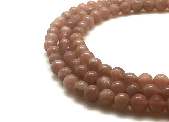 Pierre De Soleil 6mm Naturelle - 30 perles par fil
