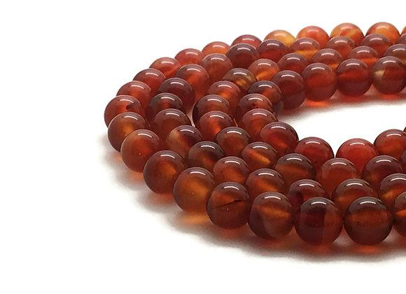 Cornaline 10mm Naturelle - 37 perles par fil
