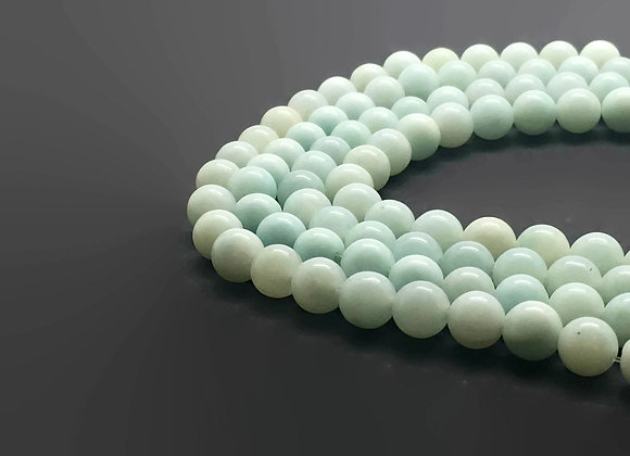 Amazonite Bleu Vert Naturelle 8mm - 47 perles par fil