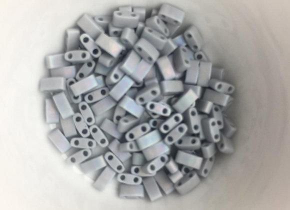 5g Miyuki Half Tila - Opaque Cement Grey Matted AB - HTL0498FR