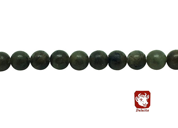 Labradorite Gris Vert 8mm Naturelle - 47 perles par fil