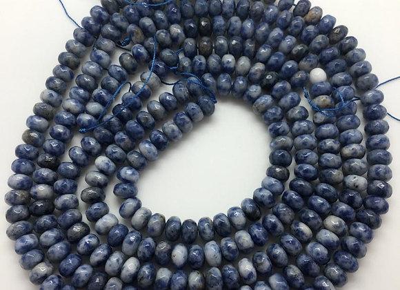 Jaspe blue spot abacus 8x5mm facette - 70 perles par fil