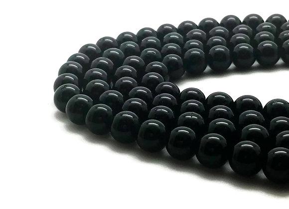 Tourmaline Noire 10mm Naturelle - 18 perles par fil