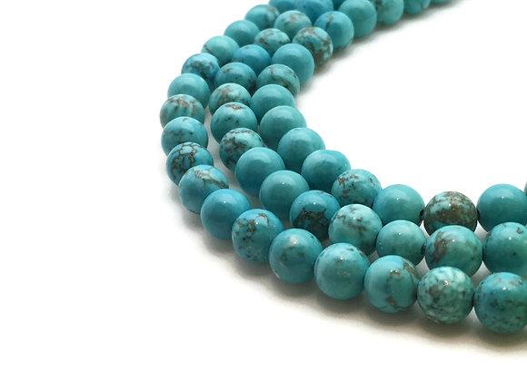 Turquoise Naturelle 6mm - 61 perles par fil