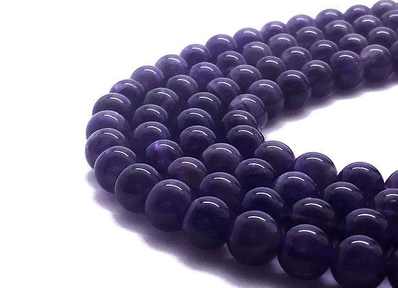 Améthyste Naturelle 10mm - 37 perles par fil