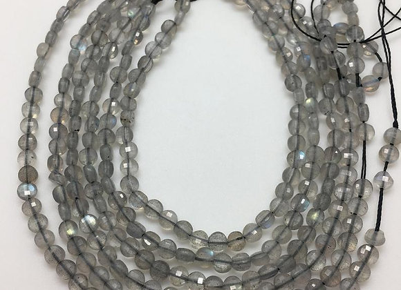 Labradorite palet 5x2.7mm facette - 70 perles par fil