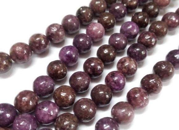 Lepidolite 6mm Naturelle - 61 perles par fil