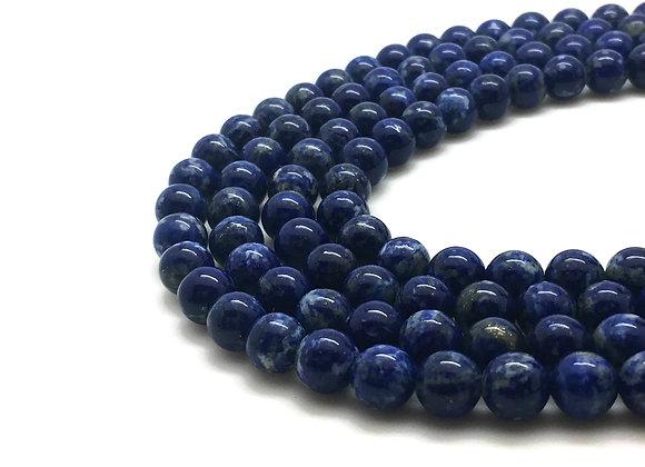 Lapis Lazuli Non Teintée 6mm Naturelle - 61 perles par fil