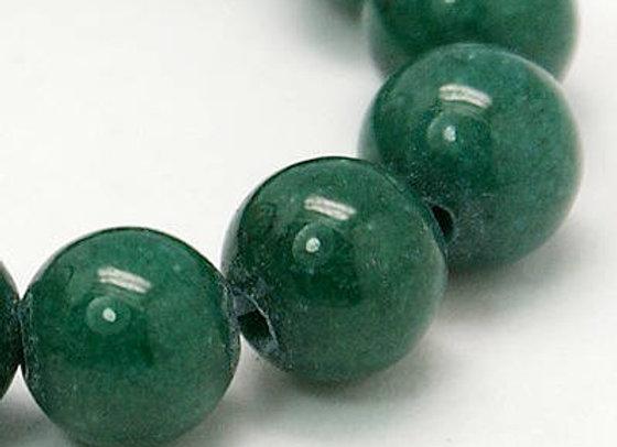 Jade Mashan Vert Foncé 4mm - 89 perles par fil