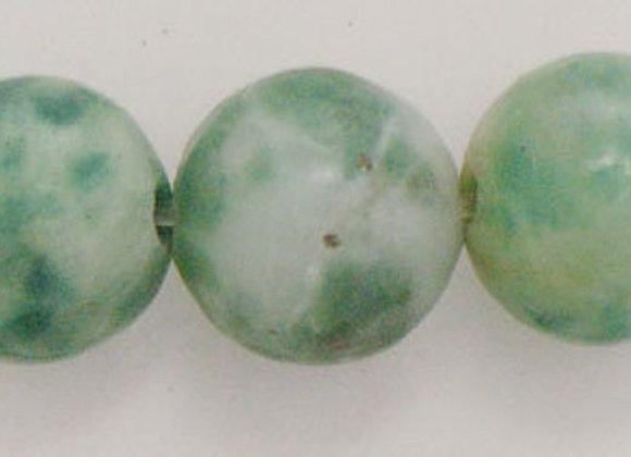 Jade Qinghai 6mm Naturelle - 61 perles par fil