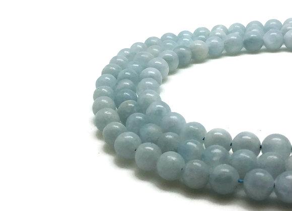 Calcite Bleue 6mm Naturelle - 61 perles par fil