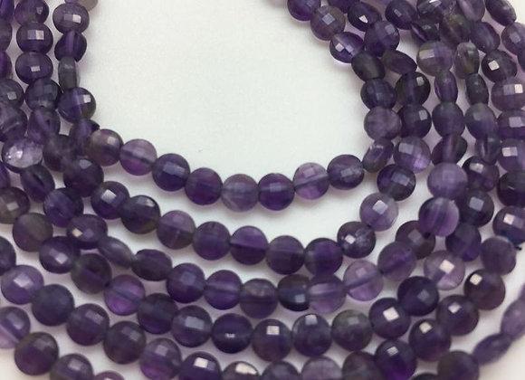 Améthyste palet 4x2.2mm facette - 95 perles par fil