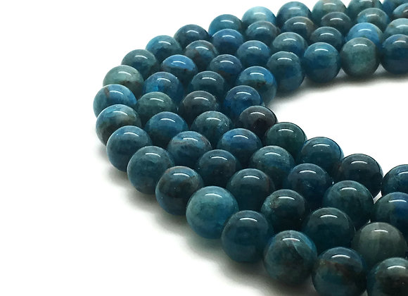 Apatite Naturelle 10mm - 37 perles par fil