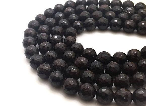 Grenat à Facettes 8mm Naturel - 47 perles par fil