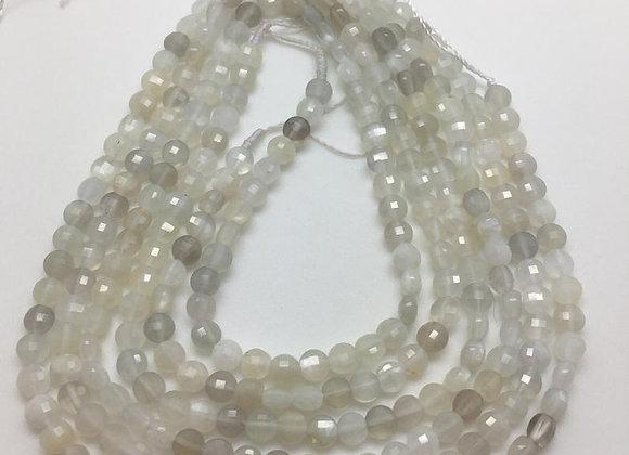 Pierre de lune palet 4x2.5mm facettes - 85 perles par fil