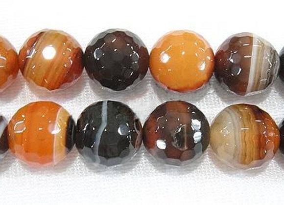 Agate Miracle à Facettes 8mm Naturelle - 47 perles par fil