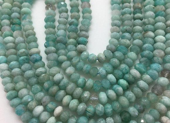 Amazonite abacus 4x2.5mm facette - 130 perles par fil