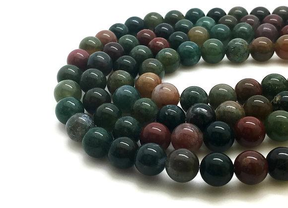 Agate Indienne 10mm Naturelle - 37 perles par fil