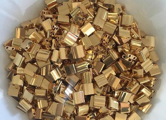 5g Miyuki Tila - 24kt Gold Plated - 5x5x1.9mm - TL0191