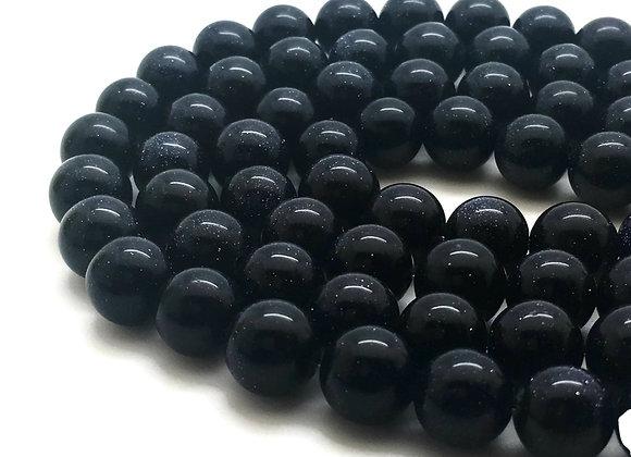 Sandstone Bleu 10mm - 37 perles par fil