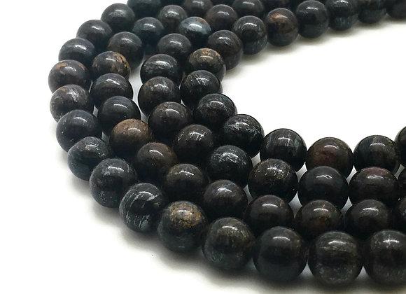 Bronzite 8mm Naturelle - 47 perles par fil