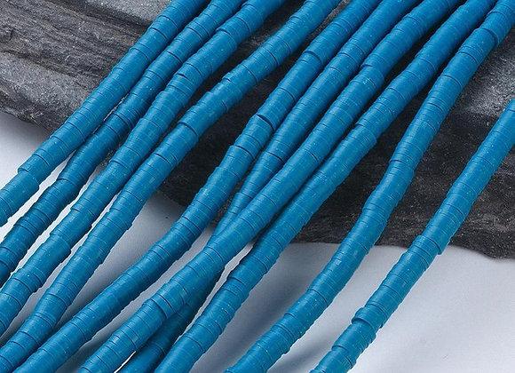 Heishi en argile 6x1mm bleu ardoise foncé - 360 perles par fil