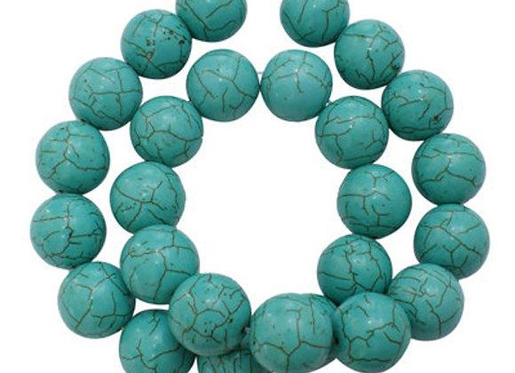 Howlite 14mm bleu - 30 perles par fil