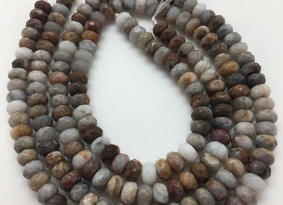 Agate gobi abacus 6x4mm facette - 90 perles par fil