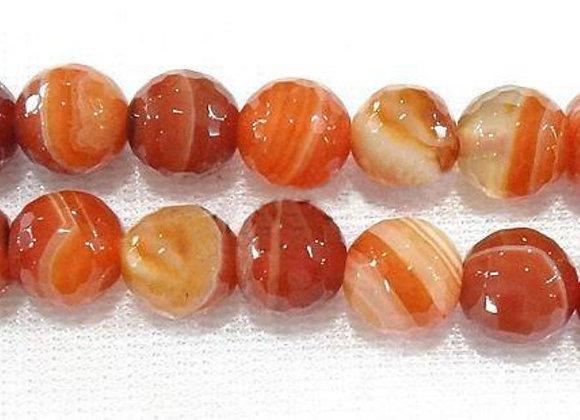 Agate Manchurian à Facettes 8mm Naturelle - 47 perles par fil
