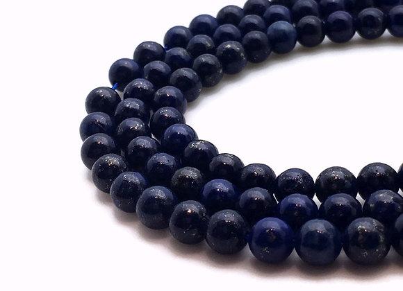 Lapis Lazuli 10mm Naturelle - 19 perles par fil