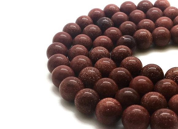 Sandstone Marron 10mm - 37 perles par fil