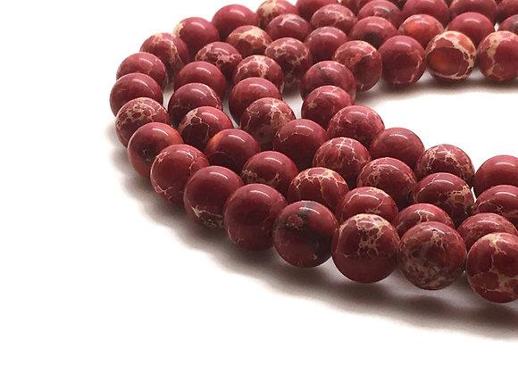 Régalite Rouge 10mm - 37 perles par fil