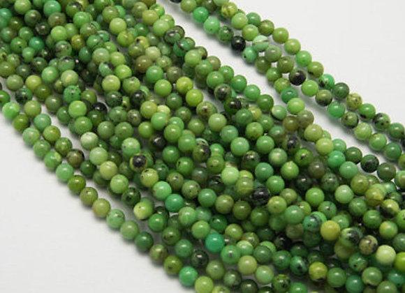 Chrysoprase / Jade australienne 8mm - 47 perles par fil