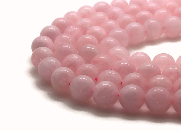 Quartz Rose 12mm Naturel - 32 perles par fil