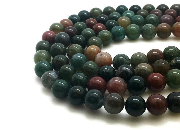 Agate Indienne 8mm Naturelle - 47 perles par fil