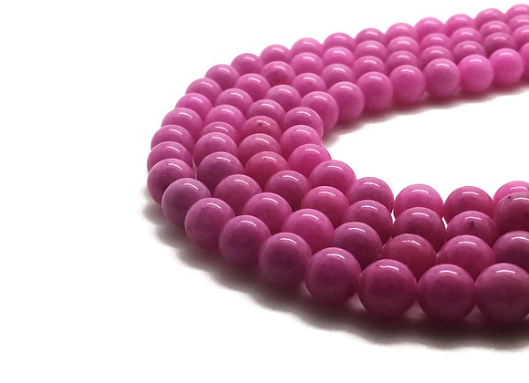 Jade Mashan Rose 4mm - 89 perles par fil